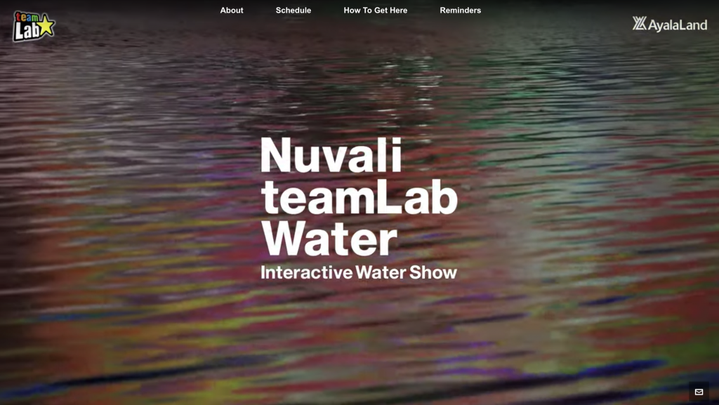 Nuvali TeamLab Interactive WaterShow